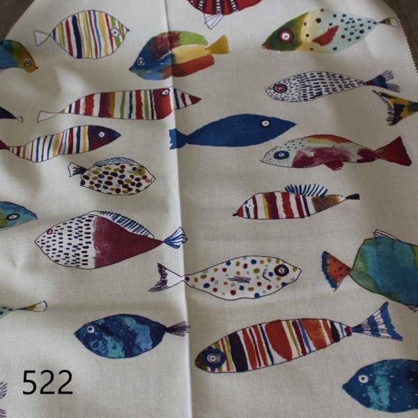 Overgordijnstof Fish