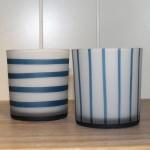 Windlicht blauw/wit