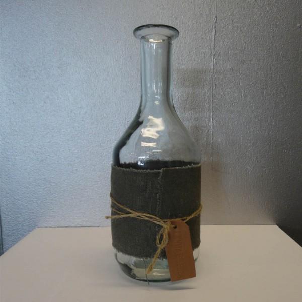 Fles met textiel wrap